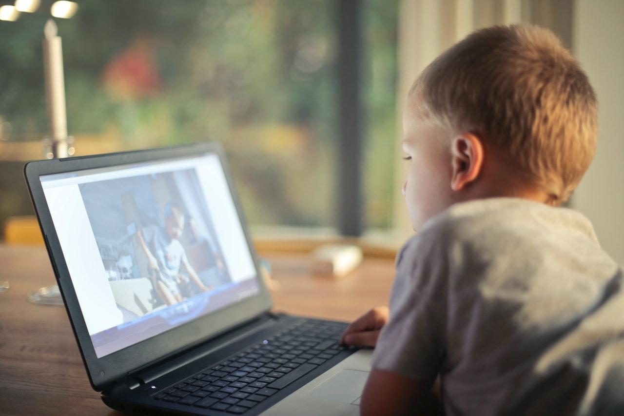 Child on computer