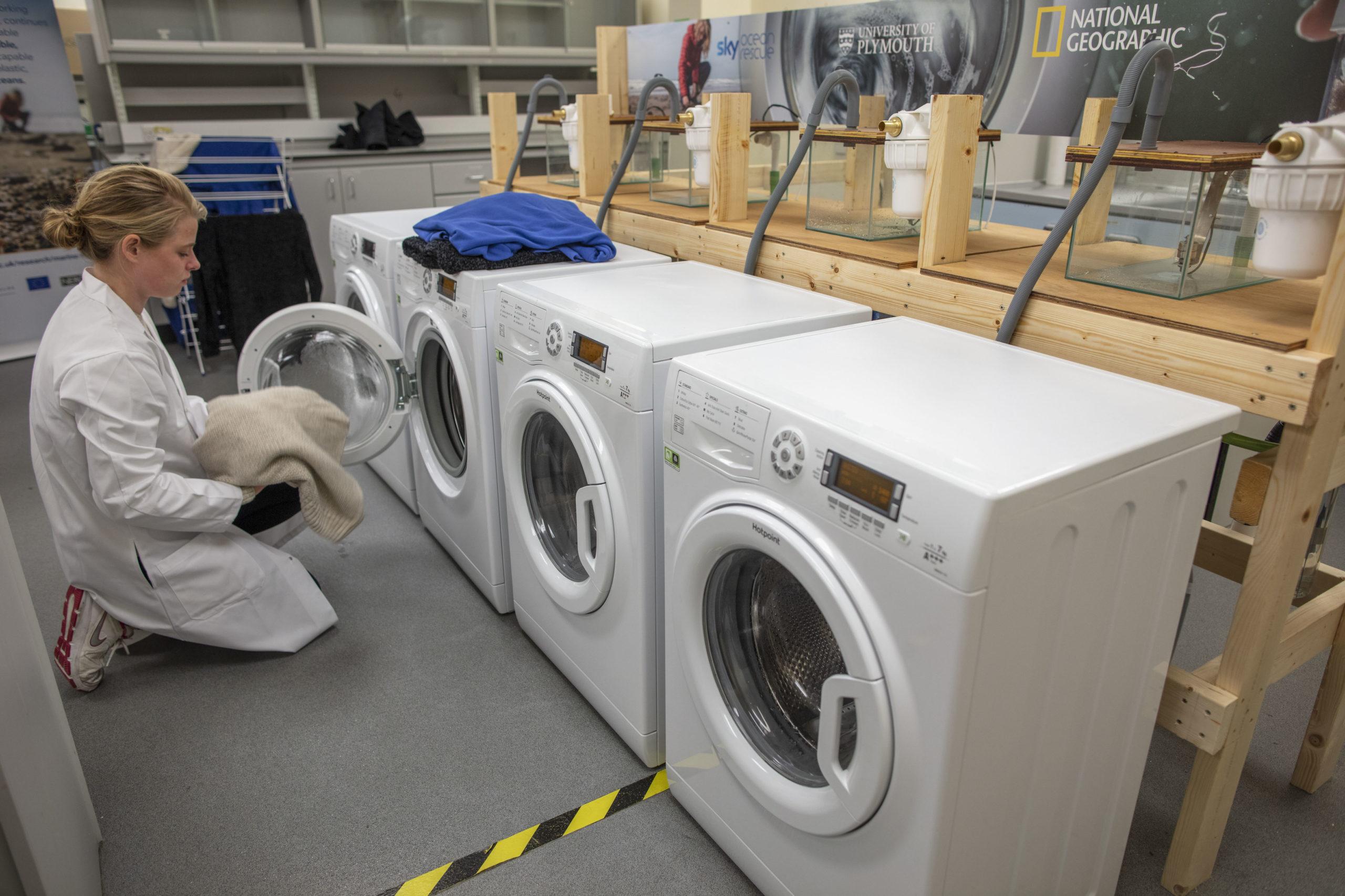 Laundry cycle fibre test